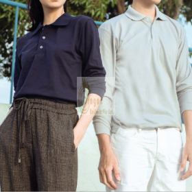 NHB24400-How to Buy   Long Sleeve Soft-touch Polo