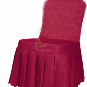 SC015  Self made floral chair cover style
